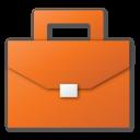 red, suitcase, job, career, case, briefcase icon