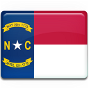 north, flag, carolina icon