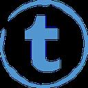 stamp, social, tumblr icon