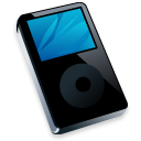 ipod, black, mp3 player icon