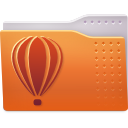 coreldraw, folder icon