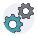 setting, mechanism, gear, cog icon