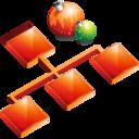 sitemap,christmas,organigrama icon