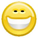 emot, emotion, smile, big, face, happy icon