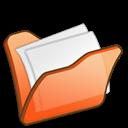 Folder, Mydocuments, Orange icon