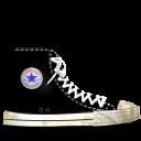 converse, dirty, black icon