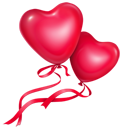 Balloons, Hearts, Love icon
