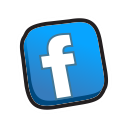 facebook, buttons icon