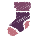 scribble, sock, socks, christmas, xmas winter, gift icon