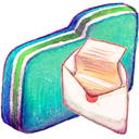 Folder, Green, Mail icon