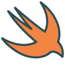 bird, ios, figure, animal, swift, brand icon