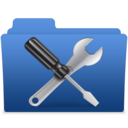 smooth navy blue utilities 2 icon
