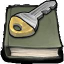 book, key icon