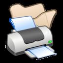 Folder beige printer icon