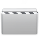 movie, folder, graphite icon