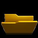 Folder, Opened, Yellow icon