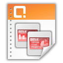 presentation, powerpoint icon