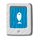 animal, paper, fish, file, document icon
