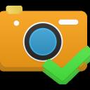 camera, accept icon