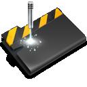 wip, folder, laser icon