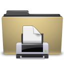 Folder, Manilla, Print icon