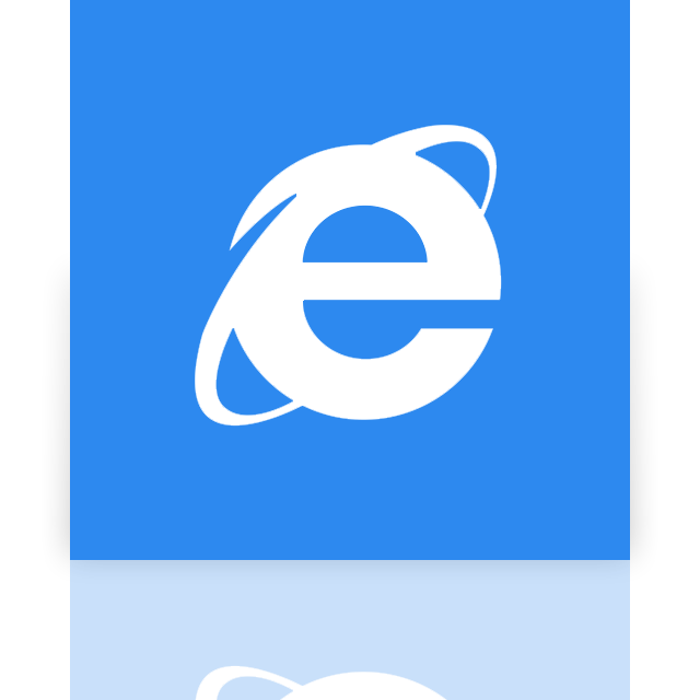 explorer, internet, mirror icon