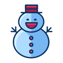 snow, winter, snowman, man, christmas icon