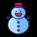 snow, winter, snowman, man, christmas icon