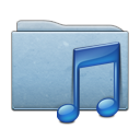 folder, blue, music icon