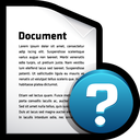 file, alert, help, document icon