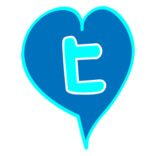 heart, love, tweete, valentine icon