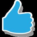 Like Icon Sticker Blue Shadow Pack Icon Sets Icon Ninja