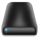 dark, external, drive icon