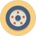 wheel, tire, car wheel icon