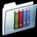 folder, library, graphite, smooth icon