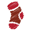 xmas winter, socks, sock, christmas, gift, scribble icon