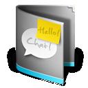 folder, chat icon