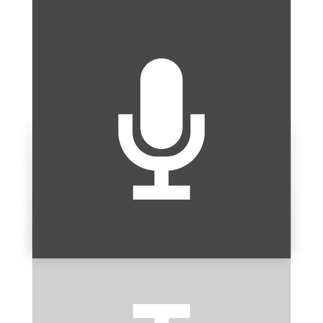microphone, mirror icon