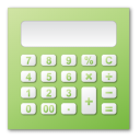 calculation, green, calculator, calc icon