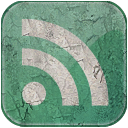 subscribe, green, feed, rss, grunge icon