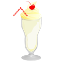 food, vanilla, milkshake icon