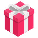 box, ribbon, pink, gift icon