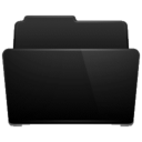 open,folder,black icon