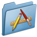 application, blue icon
