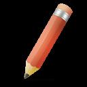 pencil red icon