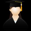 Graduate female icon