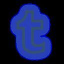 social, media, tumblr, set, neon icon