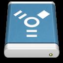 Blue External Drive FireWire icon