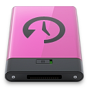 disk, time, machine, pink icon
