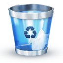Blue, Trash icon